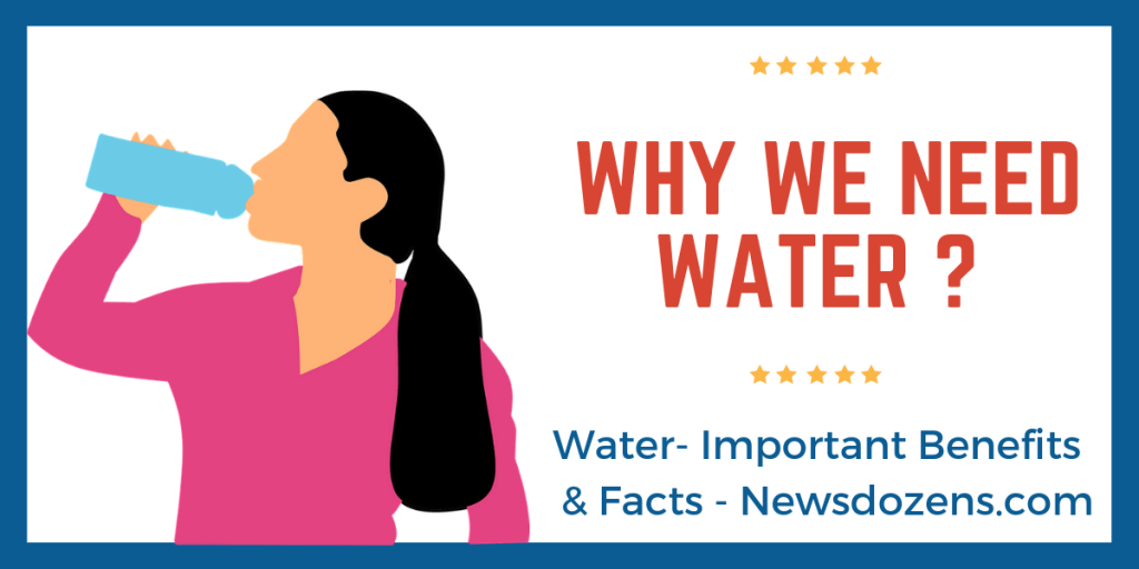 Why We Need Water, Benefits of Water, Fact and importance of water