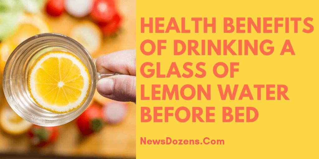lemon water before bed