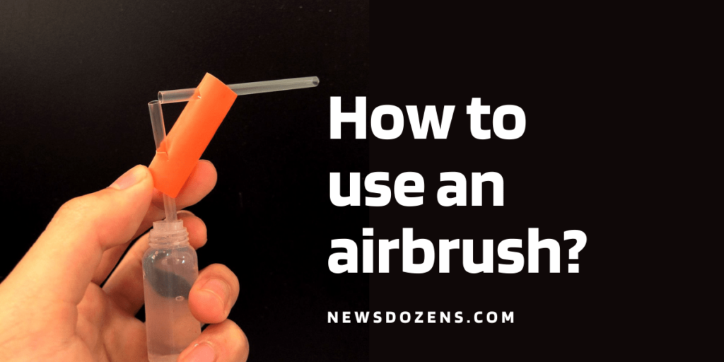 Simple and easy way of using airbrush for beginners